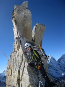 Climb between C1 and C2 passes through beautiful rock features