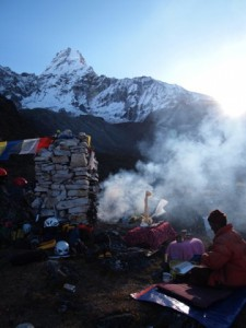 During the Puja ceromony, Ama Dablam