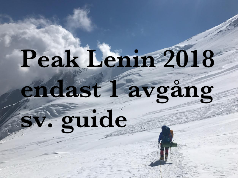 Klättra Peak Lenin 2018 med adventurelovers.se